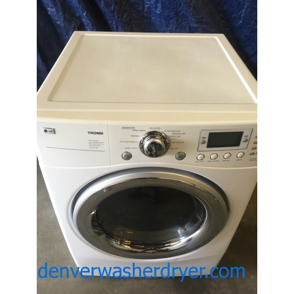 27″ Quality Refurbished Stackable LG TROMM Electric Dryer, 1-Year Warranty