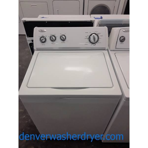 Whirlpool Top-Load Washer, 3.2 Cu.Ft. Capacity, Extra-Rinse Option, Agitator, Heavy-Duty, 27″ Wide, Quality Refurbished, 1-Year Warranty!