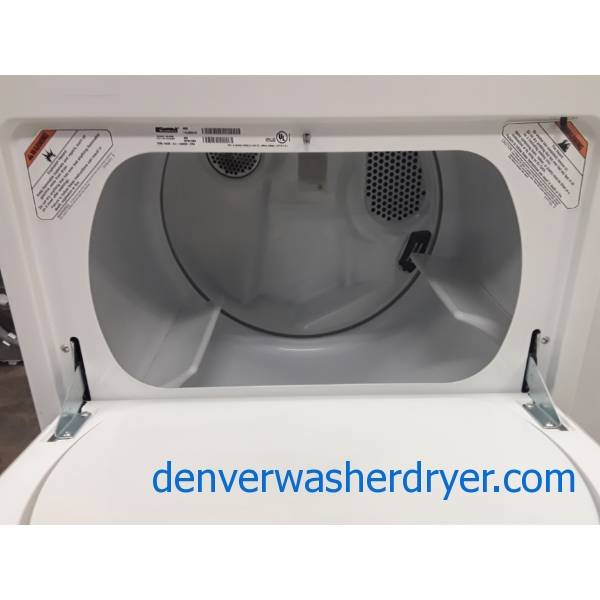 Heavy-Duty Kenmore 80 Series Dryer, Electric, 29″ Wide, 6.5 Cu.Ft. Capacity, Auto-Moisture Sensing, Wrinkle Guard, Quality Refurbished, 1-Year Warranty!