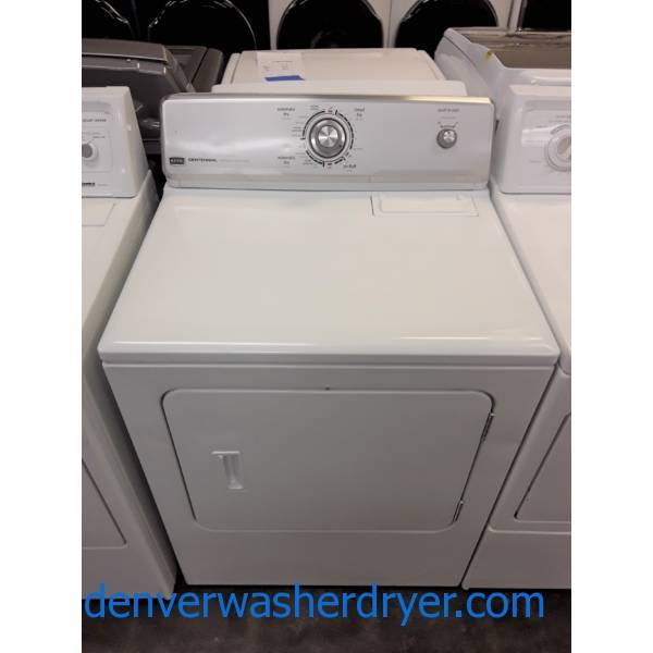 Maytag MCT 29″ Dryer, Electric, Wrinkle Prevent Feature, 6.5 Cu.Ft. Capacity, Barn Style Door, Quality Refurbished, 1-Year Warranty!