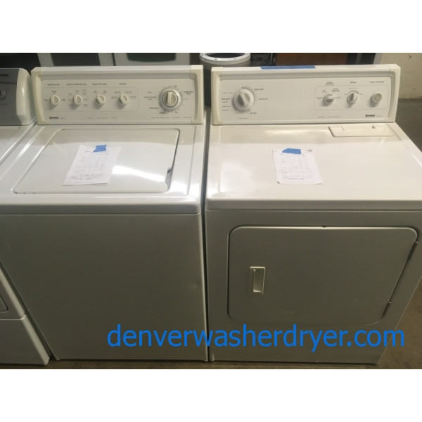 Almond Kenmore DD Washer, 27″ Dryer Set