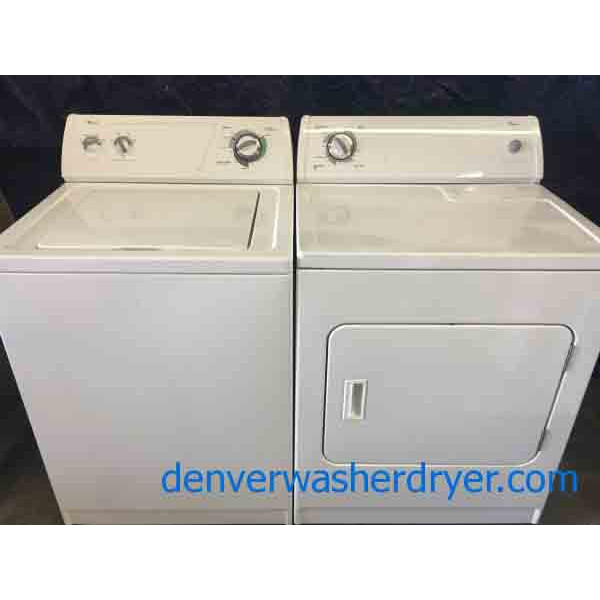 Whirlpool Direct Drive Washer And Matching Gas Dryer