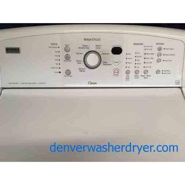 kenmore oasis washing machine