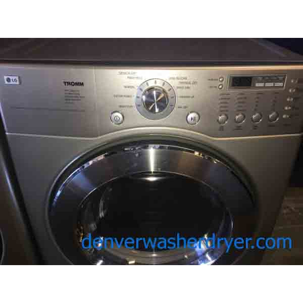 Immaculate Silver Lg Tromm Washer Dryer Set 2794