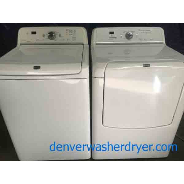 5 cu ft Maytag HE Washer and Dryer Set