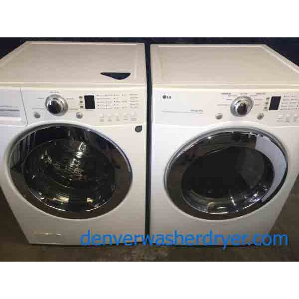 Clean Lg Front Load Washer And Matching Dryer Stackable