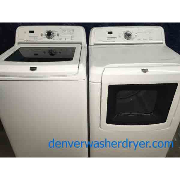 Amazing Maytag 5 cu ft Washer and Matching Steam Dryer, HE