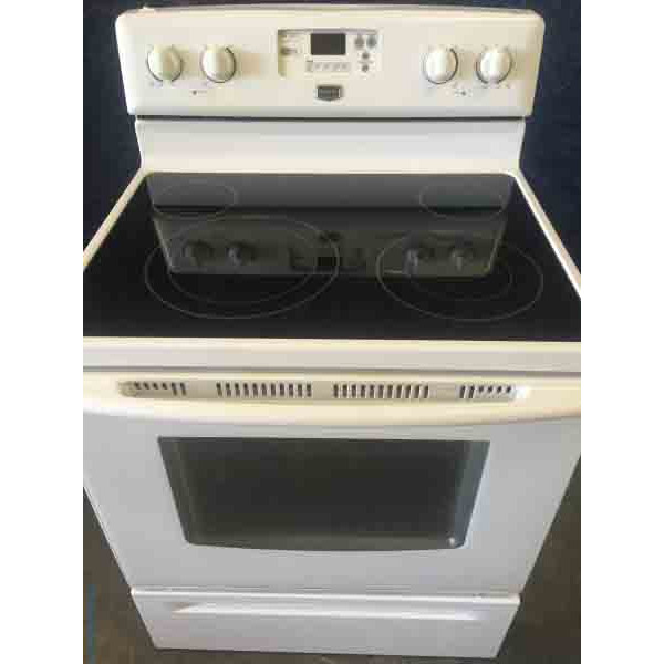 Magnificent Maytag Electric Glass-top Range with Convection Oven!