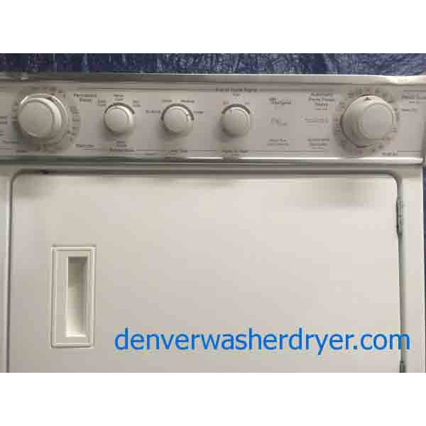 Terrific 27 Quot Whirlpool Thin Twin Stacked Direct Drive