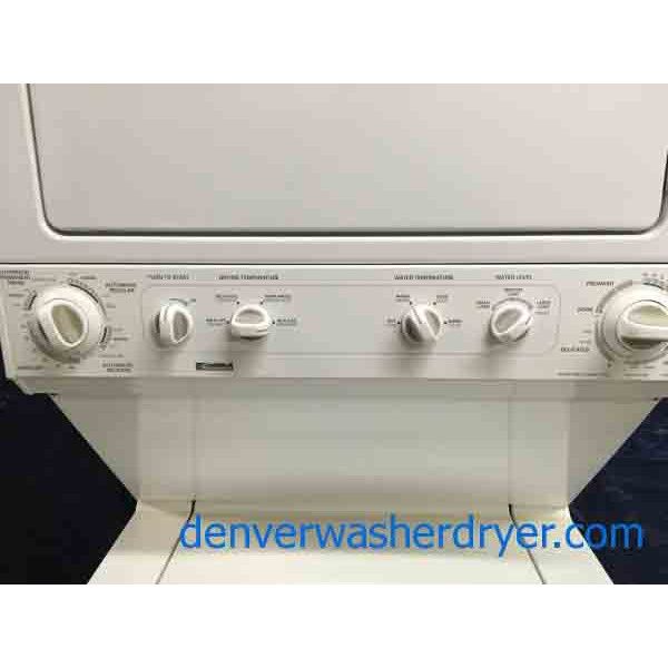 Full Size 27 Quot Kenmore Stacker 220v Washer Dryer Combo