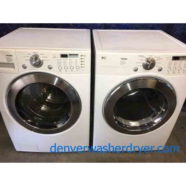 Gas Front Load Stackable Washer Dryer Set Direct Drive