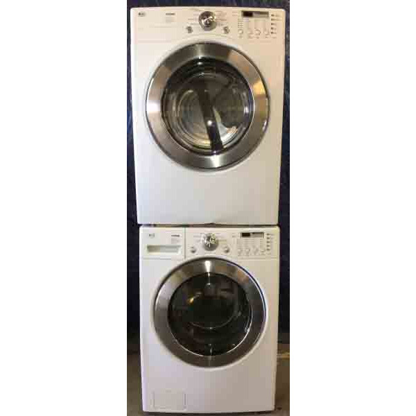 GAS Front-Load, Stackable, Washer Dryer Set, Direct-Drive