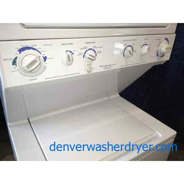 Full-Size 27″ Frigidaire Stackable Washer Dryer, 220v