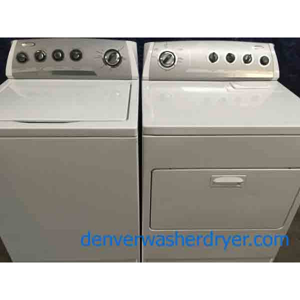 Elegant Super Capacity Whirlpool Washer with Matching Electric Dryer!