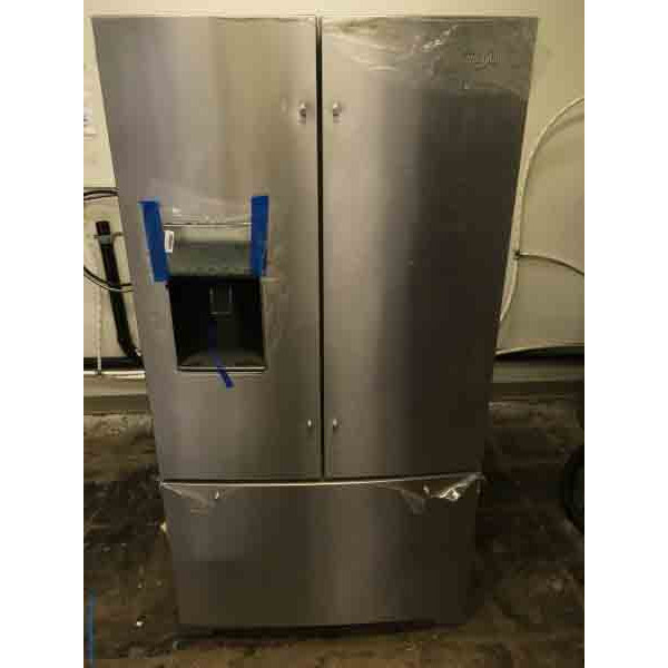 Brand New French Door Refrigerator, 26 Cu. Ft, Stainless