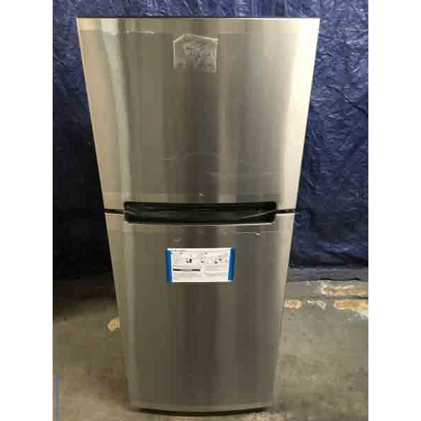 NEW! 24 Inch Whirlpool Refrigerator, Stainless, 10.7 cu ft