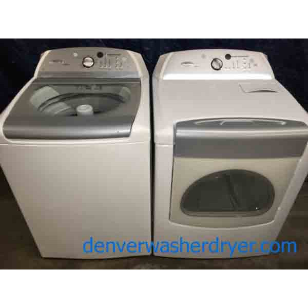 Rare Whirlpool Cabrio Washer Dryer set, HE with Agitator!