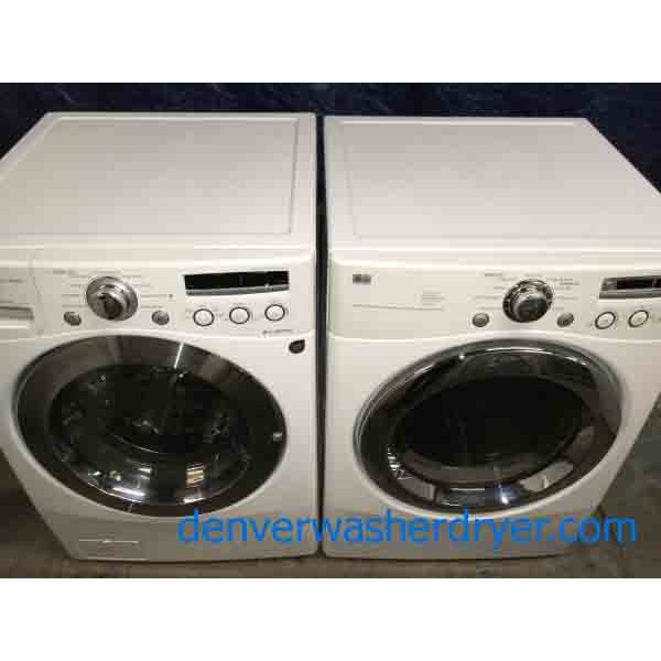 Stackable Front-Load Washer Dryer Set, Quality Refurbished
