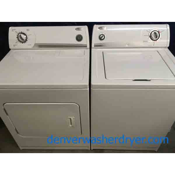 Matching Whirlpool Super Capacity Washer and Dryer, Heavy-Duty