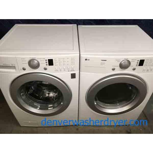 lg front load washer dryer set 220v
