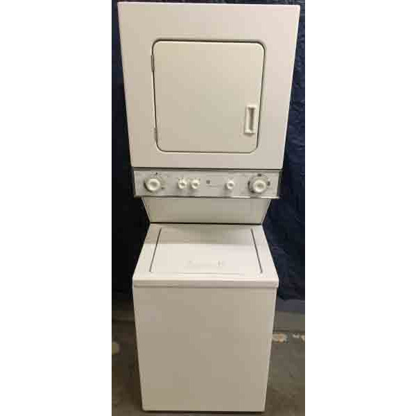 *GAS* Stackable (Unitized) 24″ Laundry Center, GE Spacemaker