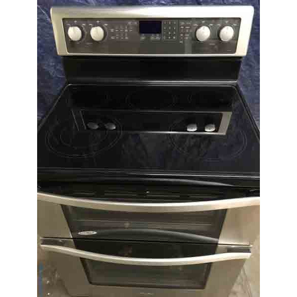 Brand-New Stainless Whirlpool Electric Double Oven Range