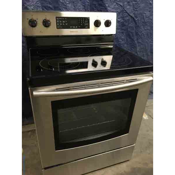 Brand-New Samsung Glass-Top Convection Oven, Stainless