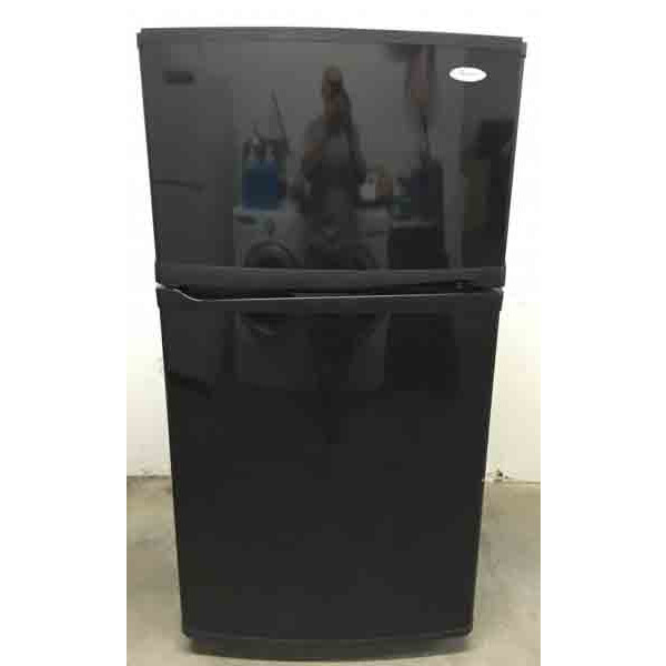 Glossy Black Whirlpool 21.3 cu. ft Top Freezer Refrigerator