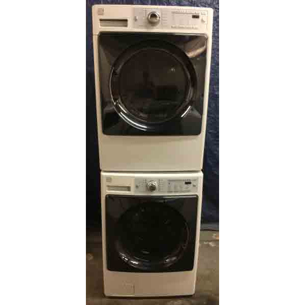 Stacked Front Load Kenmore Washer Dryer Set Electric