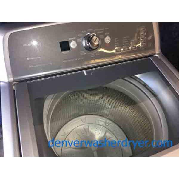 Single Silver Maytag Bravos X Washing Machine With Glass