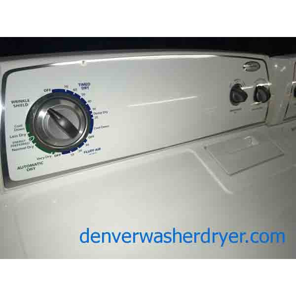 Whirlpool Washer And Dryer Set With 6 Month Warranty