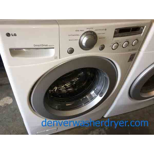 Front Load Stackable Lg Washer Dryer Set Electric 1 Year