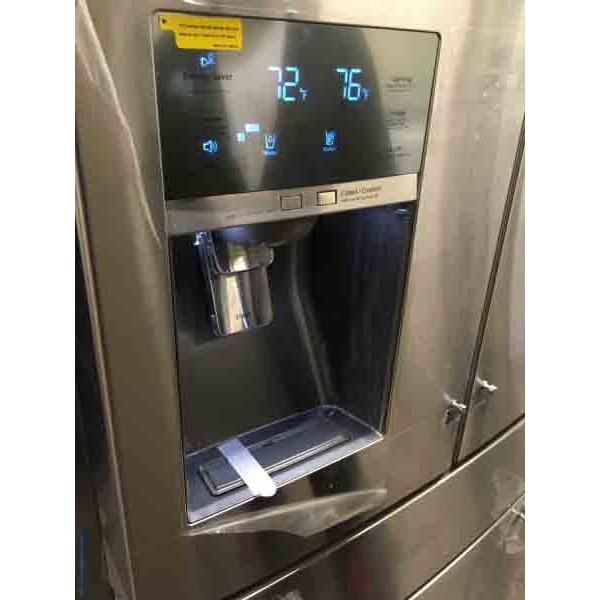 New Samsung 30 5 Cu Ft 4 Door Refrigerator With Sparkling