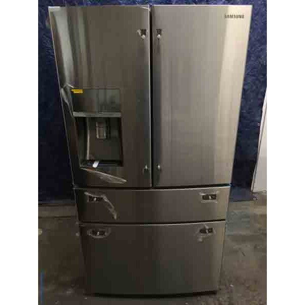 New Samsung 30.5 Cu Ft. 4-Door Refrigerator with Sparkling Water Dispenser!