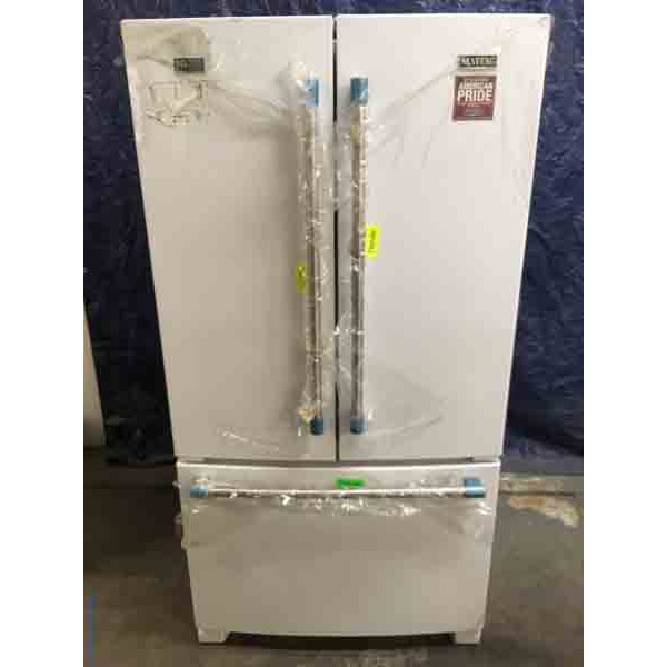NEW 24.8 Cu. Ft. French-Door Maytag Refrigerator, White,
