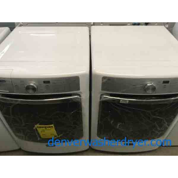 New! Maytag 4.5 Cu. Ft Front-Load Washer|Dryer Set, Electric, Scratch-Dent