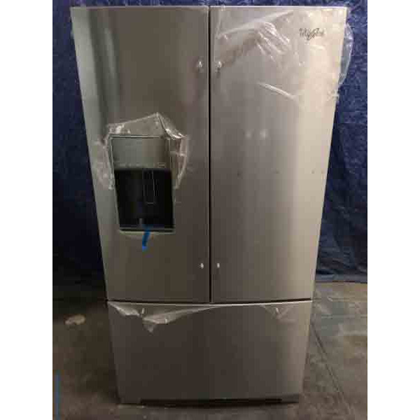 New! 29 Cu. Ft. Whirlpool Refrigerator, Stainless, 1-Year Warranty