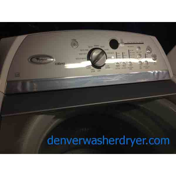 Scratched And Dented He Whirlpool Cabrio Washer Dryer Set