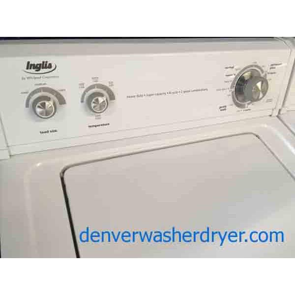 Basic User Friendly Whirlpool Inglis Washer Dryer Set
