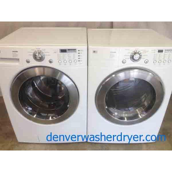 Stackable Lg Tromm Front Load Washer Dryer Set 2042