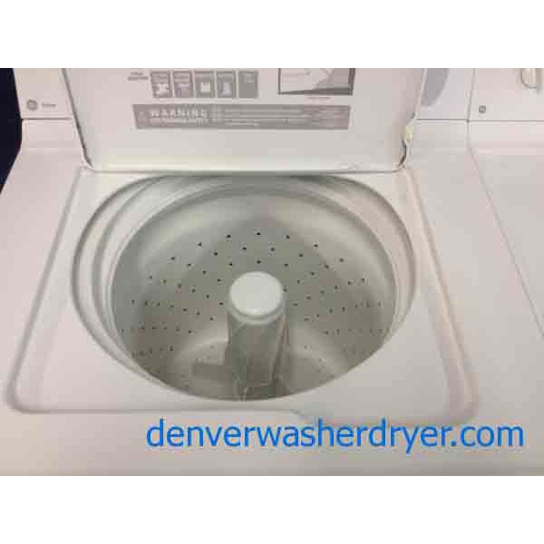 Ge Washer Dryer Set Simple And Clean Ready To Use