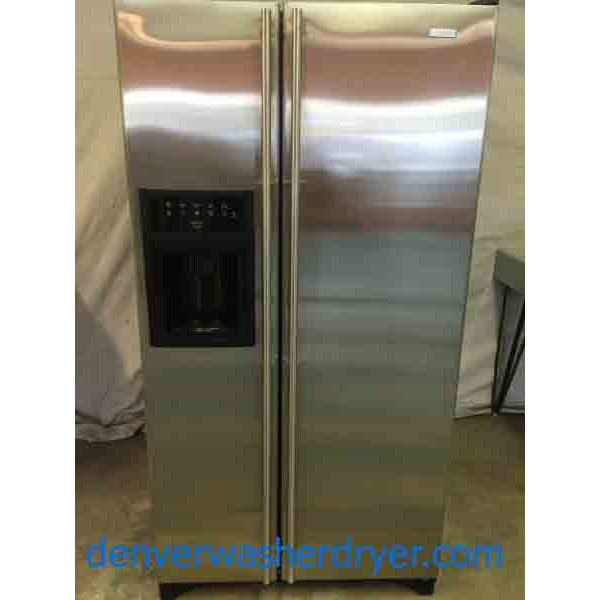 Stainless Jenn Air Side By Side Refrigerator Immaculate
