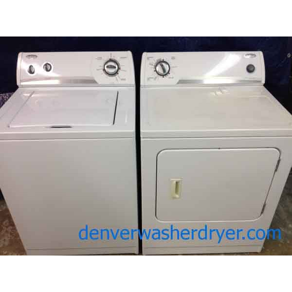 Whirlpool Washer Dryer Super Capacity Nice Recent Models