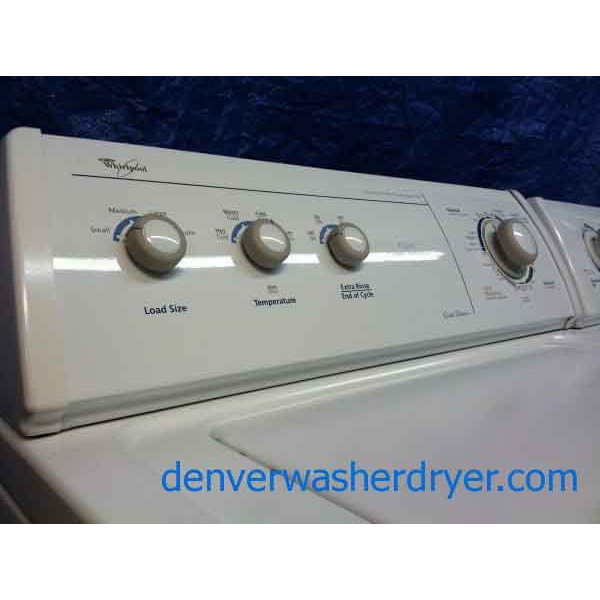 Sleek And Stylish Whirlpool Washer Dryer Set 495