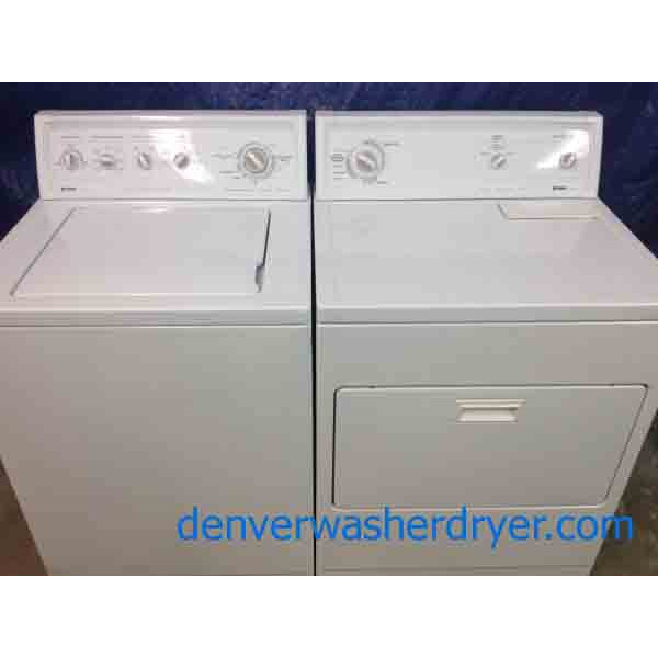 Kenmore 80 Series Washer/Dryer Set, Super Capacity Plus