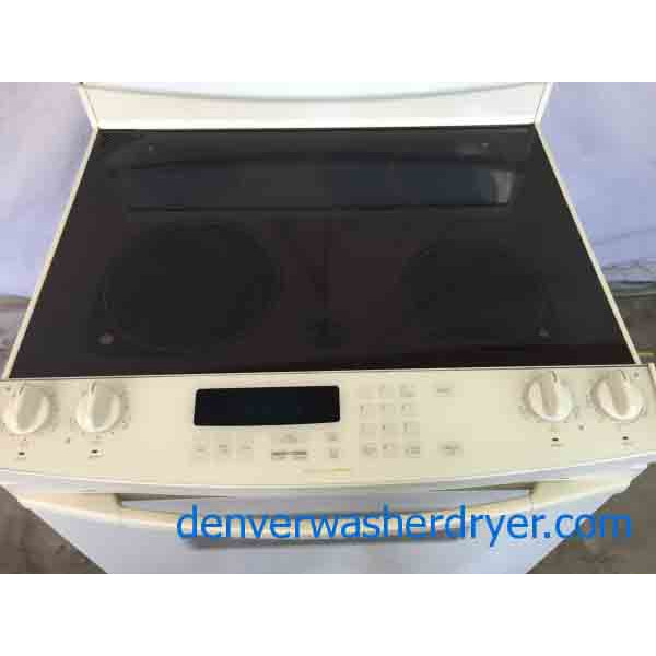 High End Kitchen Aid Glass Top Stove Beige 2174 Denver Washer