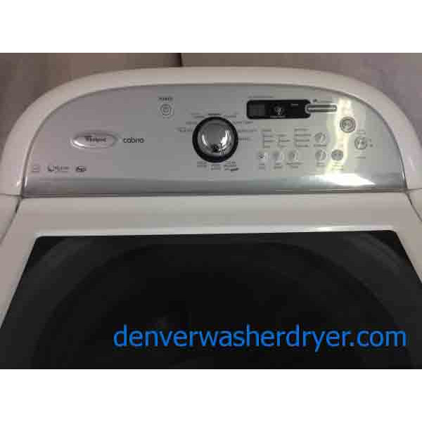 High Efficiency Agitator Less Whirlpool Cabrio Washer