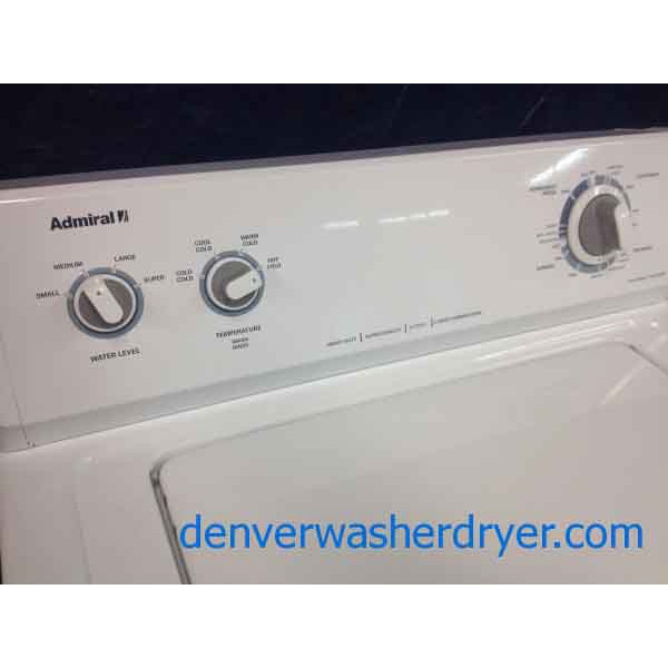 admiral washerdryer almost new lightly used super clean