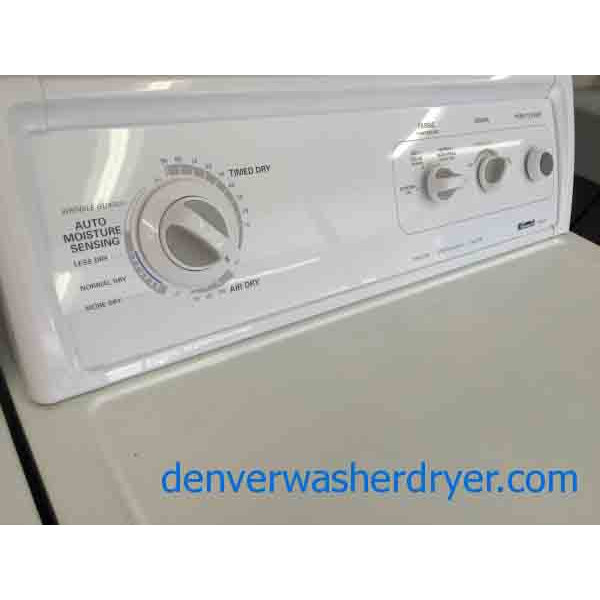 White Kenmore Whirlpool Direct Drive Washer Dryer Set Beauties