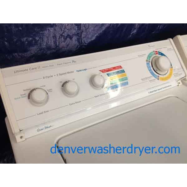 Whirlpool Washer Ultimate Care Ii Super Capacity Plus